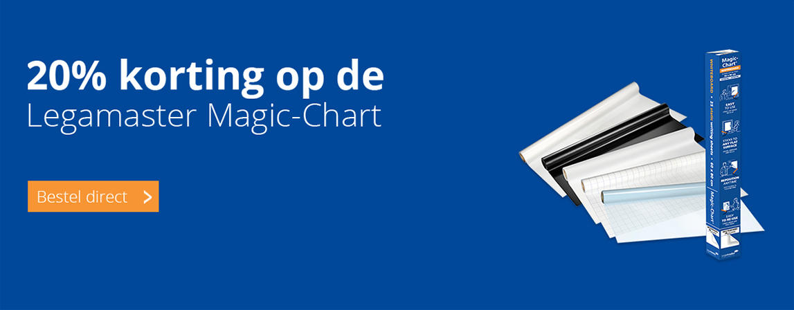 20 procent korting op Legamaster Magic Charts