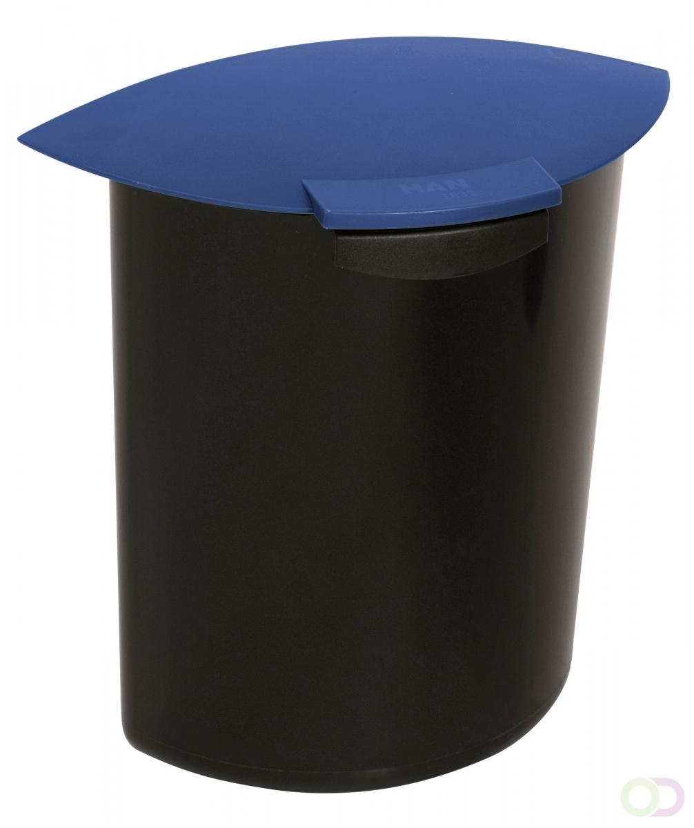 Merkloos Afvalbak Inzet 6 liter met deksel, Blauw