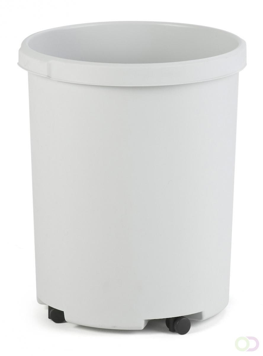 Merkloos Afvalbak Rond 50 liter, Grijs