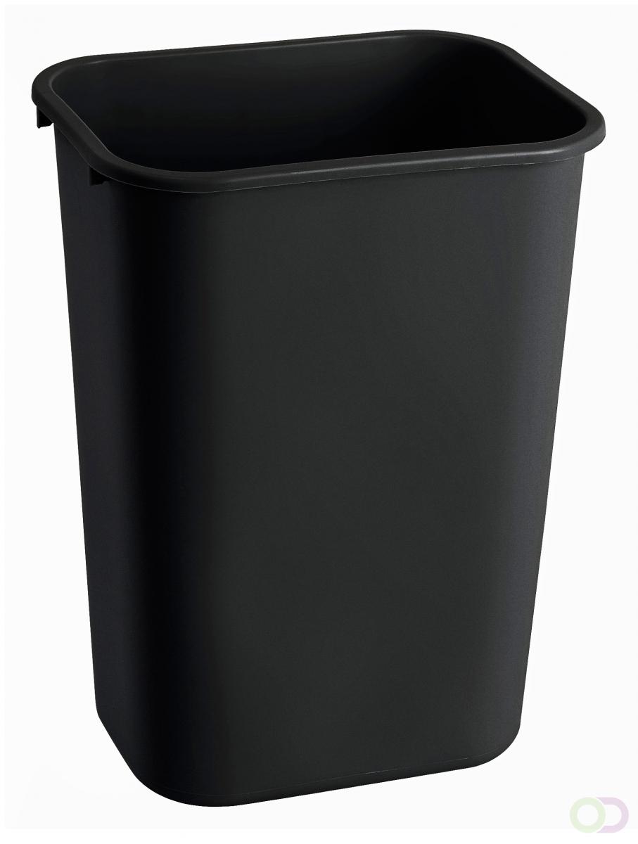Afvalbak Rubbermaid Rechthoekig 39 liter, Zwart