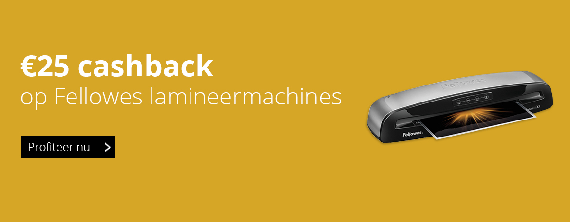 Cashback actie Fellowes lamineermachines
