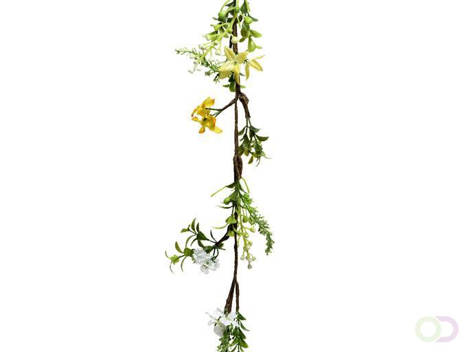 Guirlande met paasbloemen 120cm