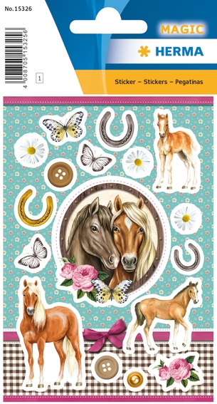 HERMA 15326 Stickers paarden in love, jewel