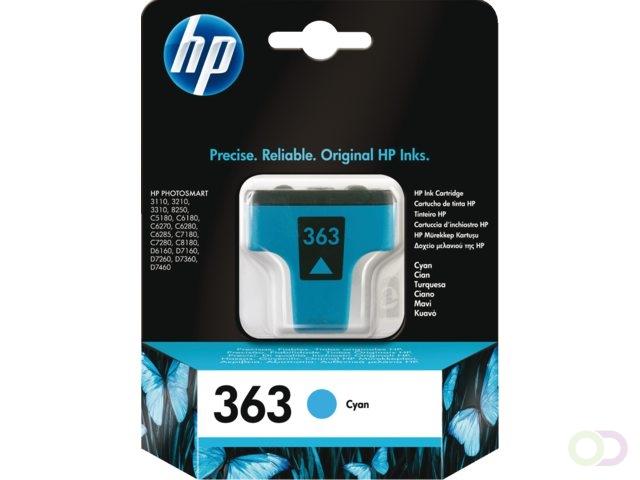 HP 363 originele cyaan inktcartridge