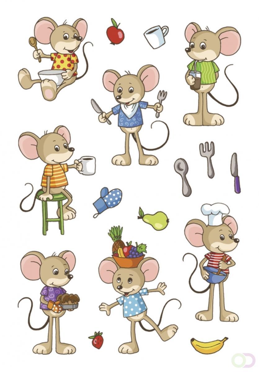 MAGIC Herma Grappige muizen, transpuffy