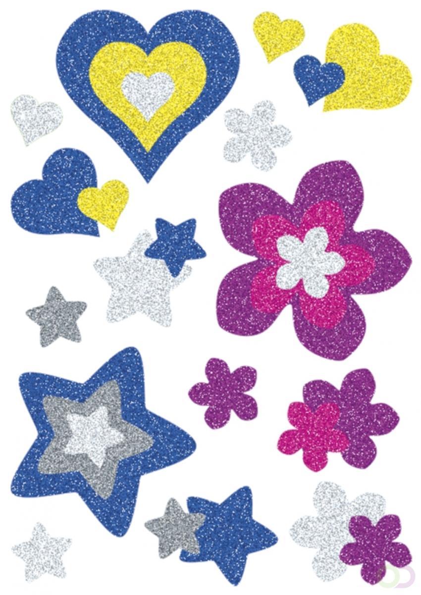MAGIC, Herma Harten, sterren + bloemen, glittery