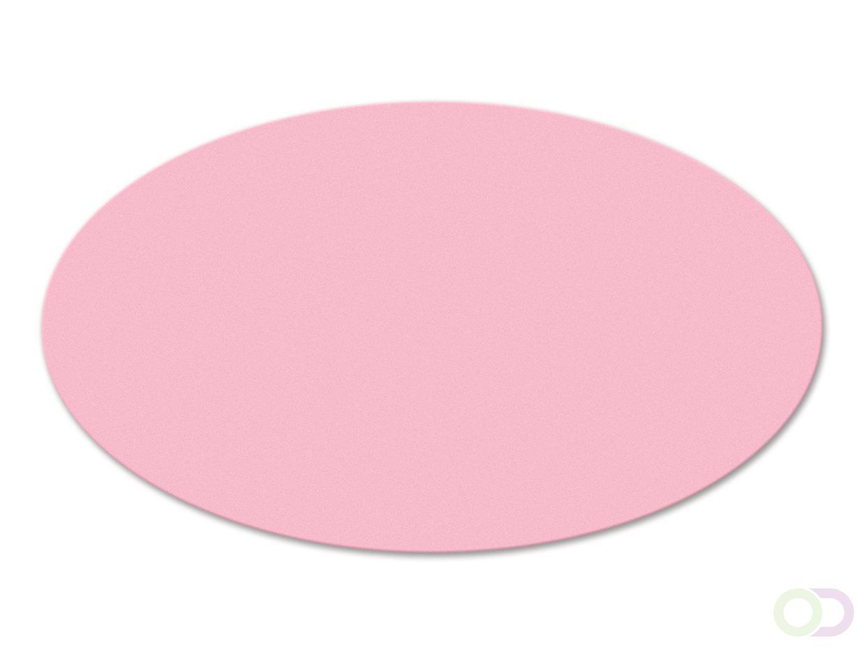 Ovale kaarten 250 stuks roze