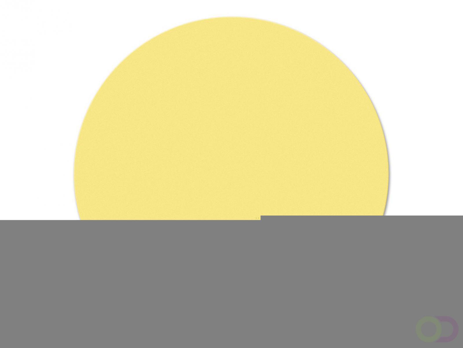 Ronde kaarten 19 cm, 250 stuks geel