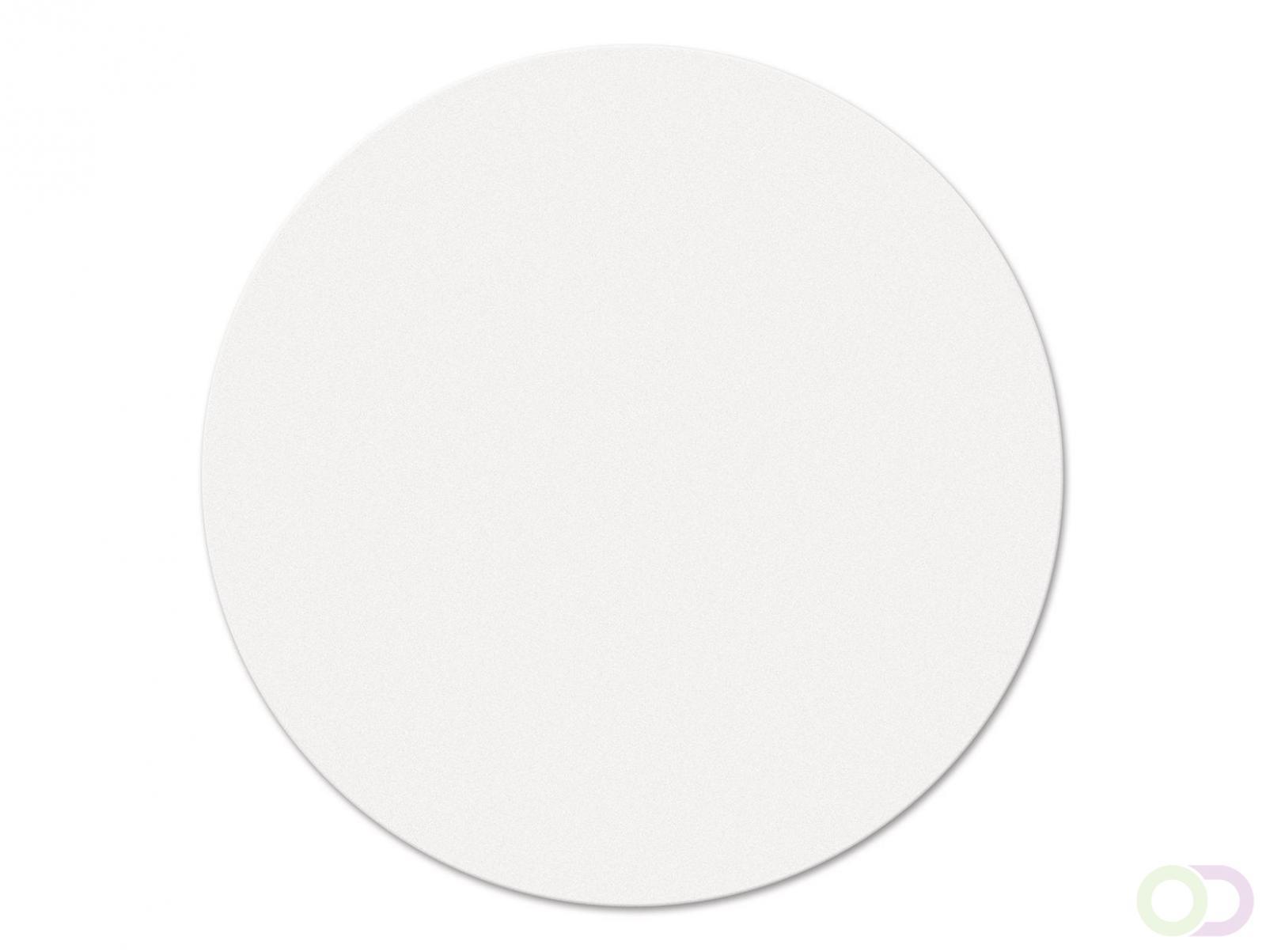 Ronde kaarten 19 cm, 250 stuks wit