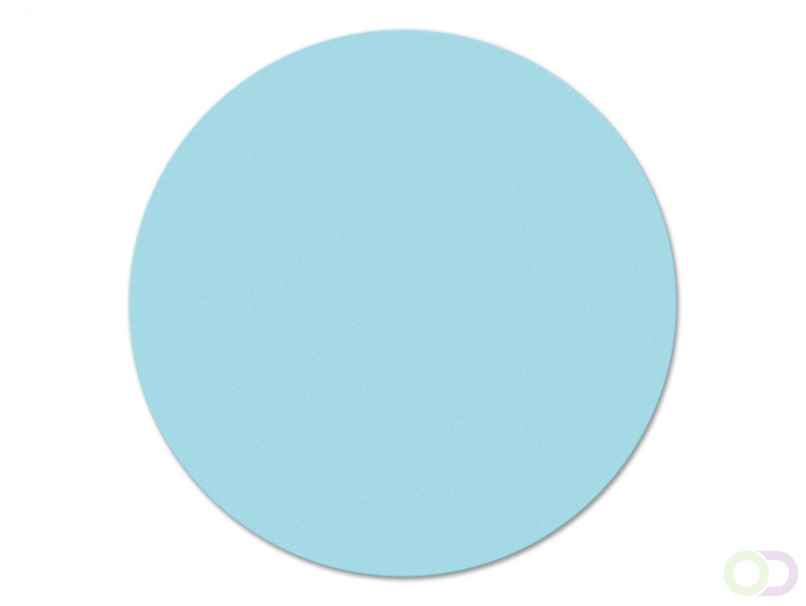 Ronde kaarten 19 cm, 500 stuks lichtblauw
