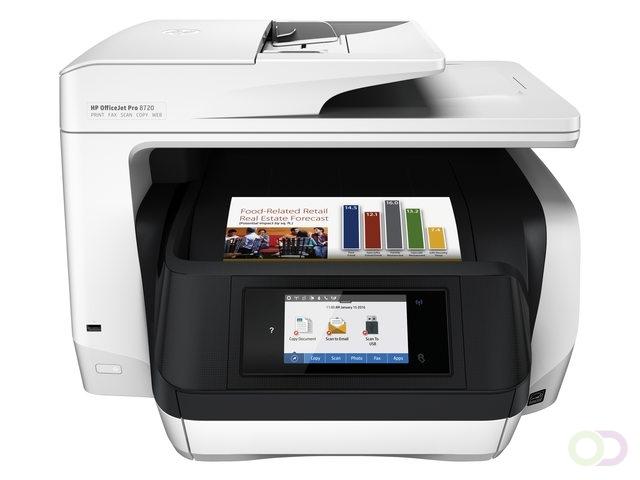 HP OfficeJet Pro 8720 AiO Thermische inkjet A4 Wi-Fi