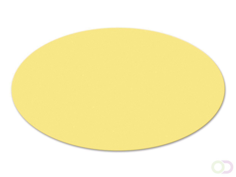 Ovale kaarten 250 stuks geel