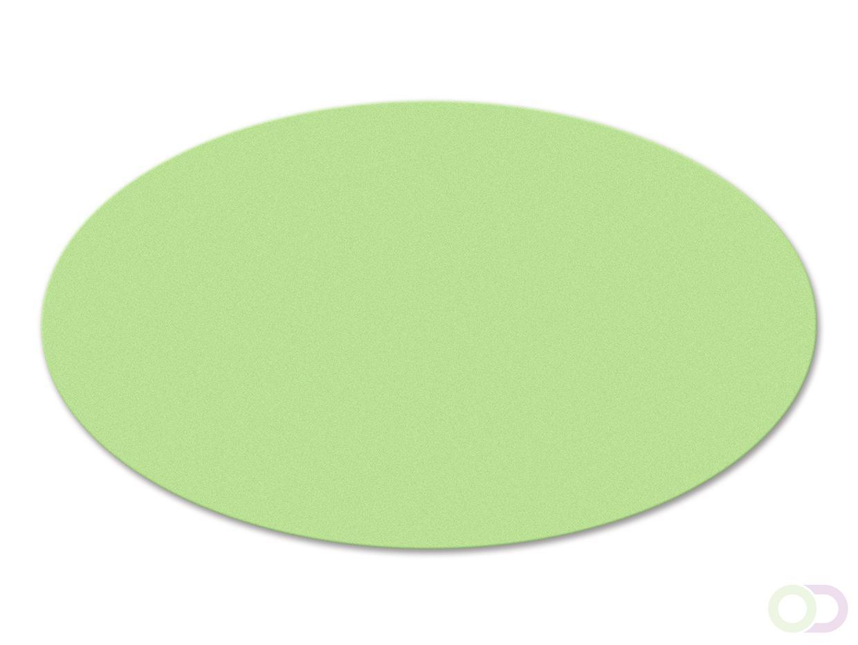 Ovale kaarten 250 stuks groen