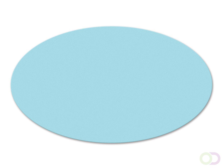Ovale kaarten 250 stuks lichtblauw