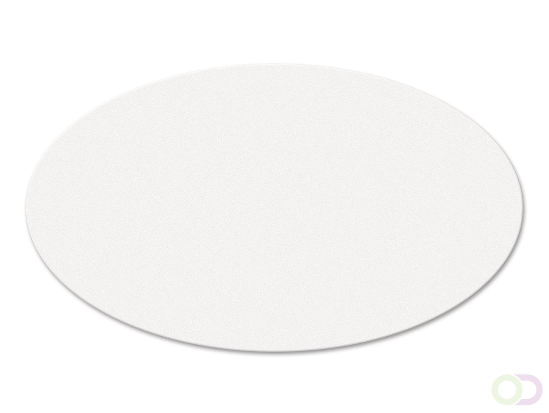 Ovale kaarten 250 stuks wit