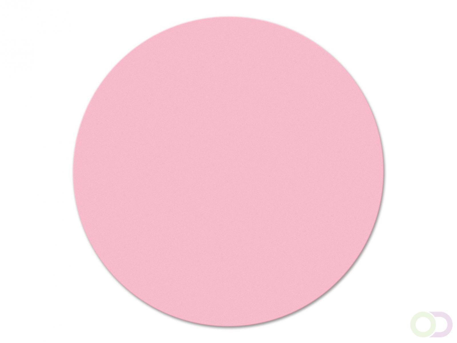 Ronde kaarten 19 cm, 250 stuks roze