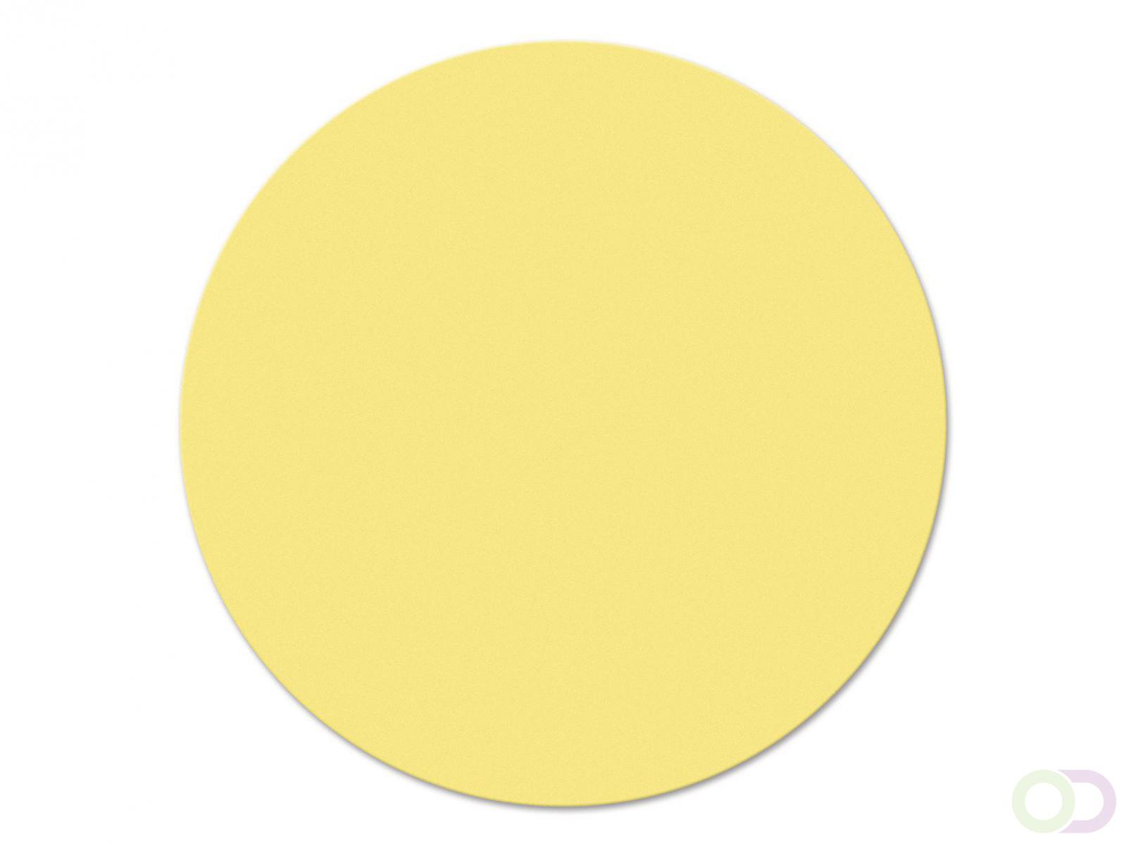 Ronde kaarten 19 cm, 500 stuks geel