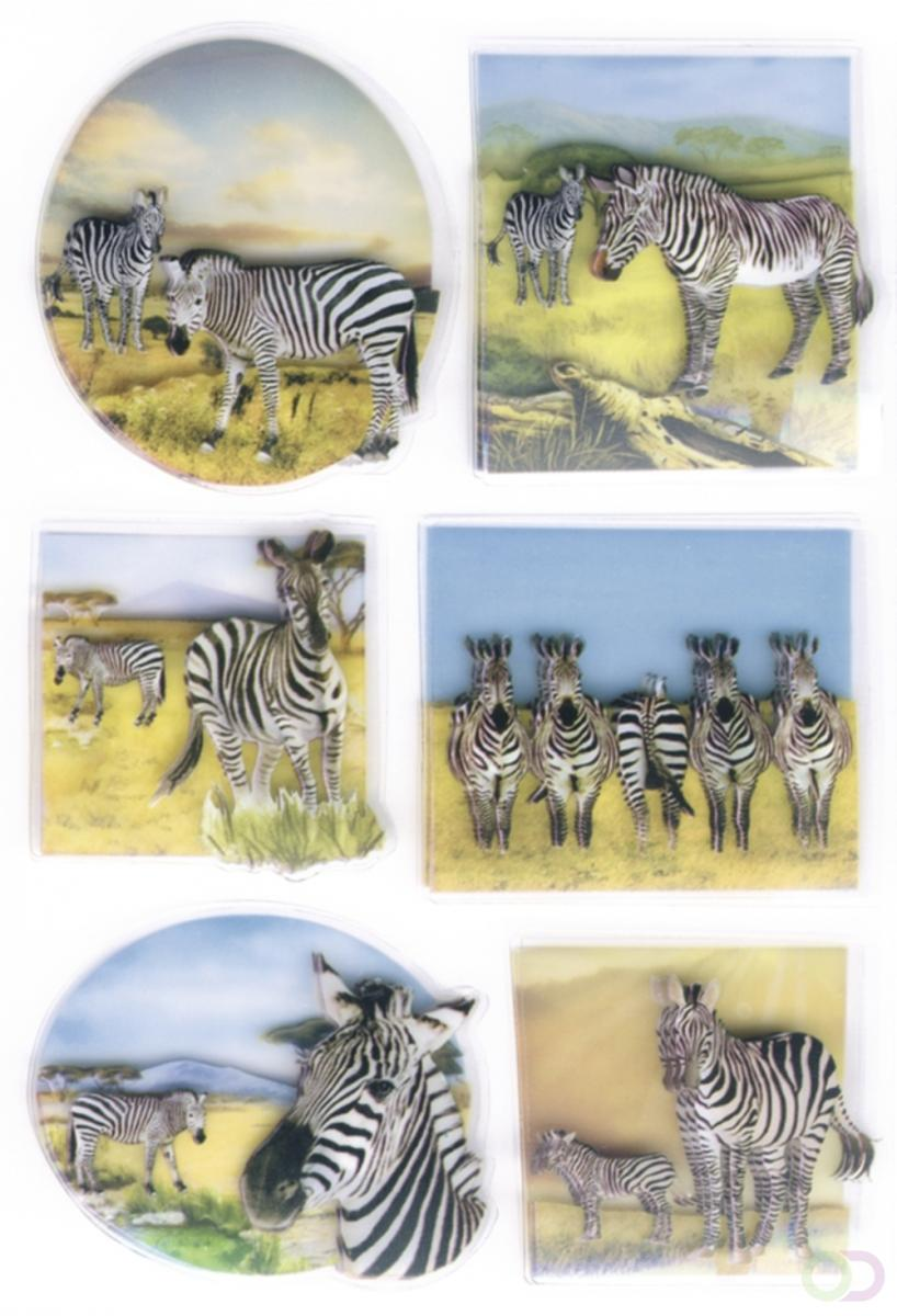 Sieretiketten Herma MAGIC zebras, 3d folie 1vel