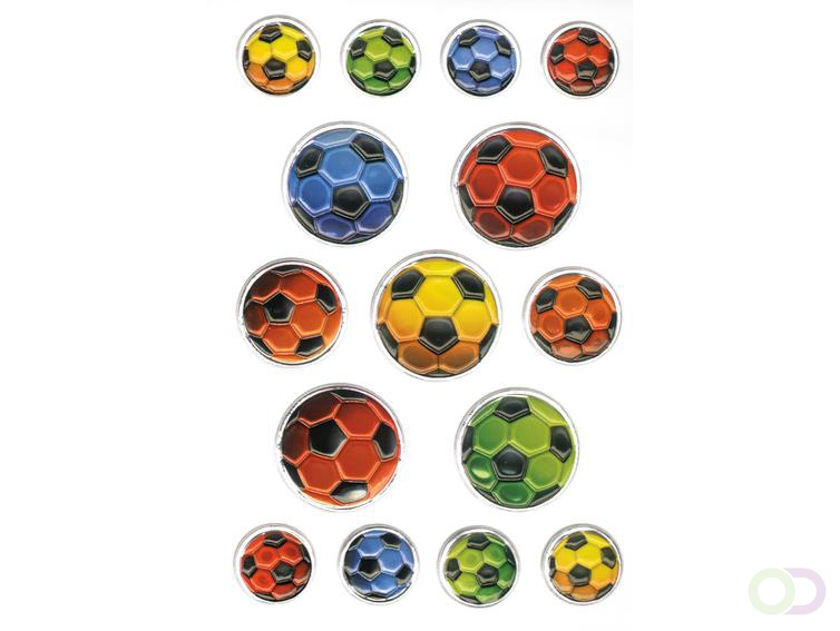Sieretiketten Herma MAGIC gekleurde ballen van het voetbal 1fl