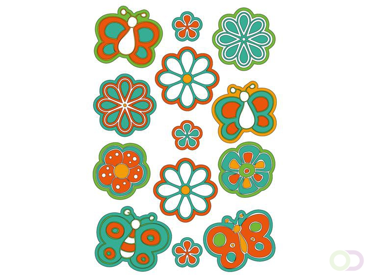 Sieretiketten Herma MAGIC bloemen&vlinders, puffy