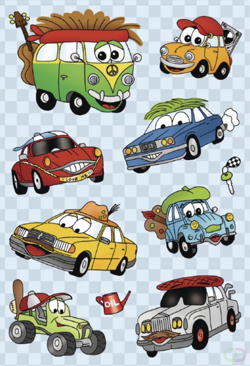 Stickers Herma MAGIC funny Autos met bewegende oogjes 1 vel