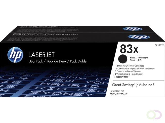 HP Toner CF 283 XD zwart nr. 83 X