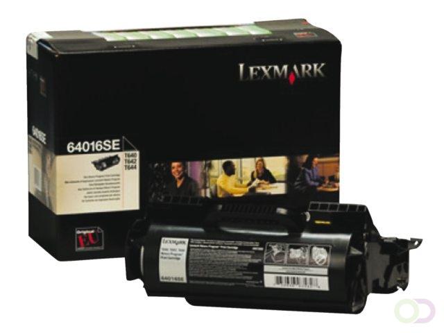 TONERCARTRIDGE LEXMARK 64016SE PREBATE 6K ZWART