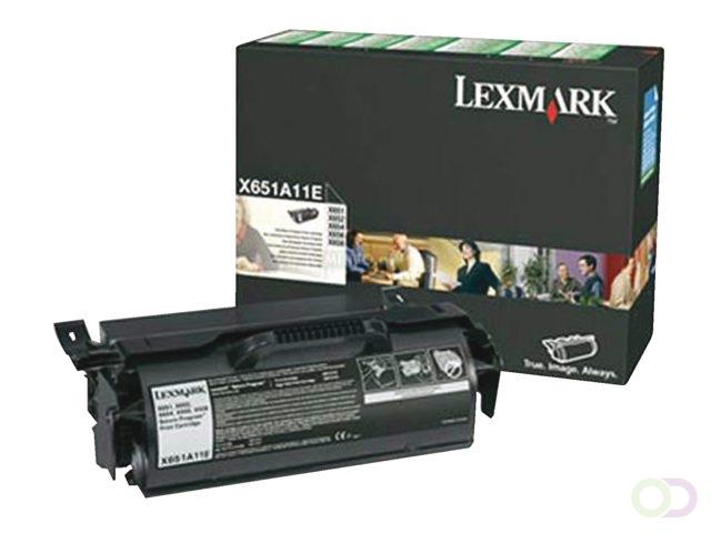 TONERCARTRIDGE LEXMARK X651A11E PREBATE 7K ZWART