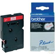 BROTHER P-Touch TC-292 red on white 9mm