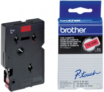 BROTHER P-Touch TC-491 black on red 9mm