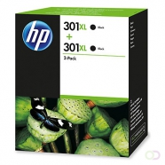 HP 301XL inktcartridge zwart high capacity 2 x 480 paginas 2-pack